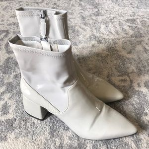 Senso Patent Leather Stretch Booties